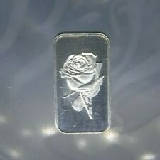 10 x 1 gram ROSE DESIGN silver bars Silver Bullion 999 Purity