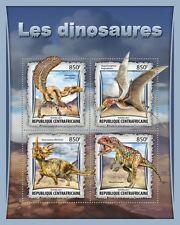 Centraal Afrika - Postfris/MNH - Sheet Dinosaurs 2017