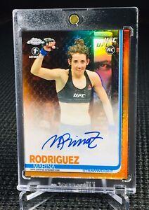 "2019 Topps Chrome UFC ~ MARINA RODRIGUEZ (#8/25) ""ORANGE""! 1ST AUTO ROOKIE CARD!"