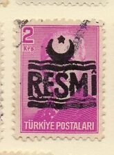 Turkey 1955-56 Optd Resmi Star & Crescent Issue Fine Used 2k. 085957