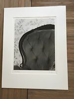 """BRUCE BLUM SIGNED B&W Photo Print (14"""" X 18"""")-""""Chair and Wallpaper """""""