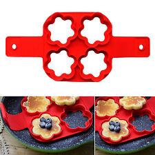 Flower Shape Pancakes Pan Flip Mold Non Stick Breakfast Maker Egg Omelette Tool