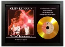 CLIFF RICHARD 'WE DON'T TALK ANYMORE' SIGNED PHOTO GOLD DISC MEMORABILIA GIFT