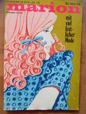 MARION Dezember 12 - 1971 Mode-Journal + Schnittmuster