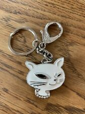 BNIB Leonardo collection White Cat Diamanté clock/keyring Gift