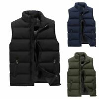 Men's Winter Warm Down Quilted Vest Body Sleeveless Padded Jacket Coat Outwear