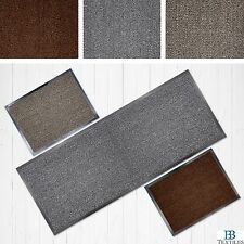 Faro Grey Beige or Terracotta Non Slip Rubber Backed Runner Door Floor Mat Rug