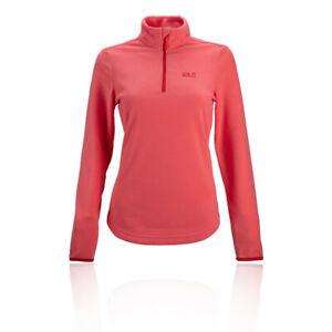 Jack Wolfskin Womens Echo Fleece Top Pink Sports Outdoors Half Zip Warm