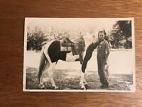1938 Vintage PHOTO Kern County Bakersfield Girl w/Horse Pony Overalls Western