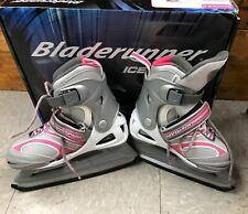Bladerunner Dazzle 6.0 Ice Skates Pink Silver & White Girl's Adjustable Size 4-7