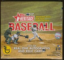 2017 Topps Heritage Baseball Trading Cards SEALED 24-Pack RETAIL BOX