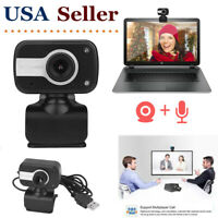 USB 2.0 Webcam Camera with Microphone Video For PC Laptop Computer Desktop ++