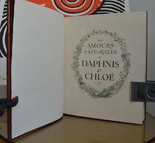 Les Amours Pastorales de Daphnis et Chloé - Bécat & Longus - 1939