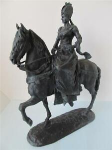 "Emmanuel Fremiet ""Isabel de Baviera (Sissi) a Caballo"" Sculpture ****"