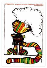 "Movie Poster 4 film""Little TIGER""Rainbow.Decor for children room.Spanish tigre"