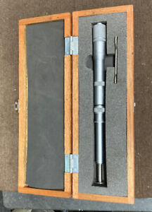 """Mitutoyo 1-2"""" Groove Micrometer 146-106 Machinist Inspection Tool Maker Box find"""