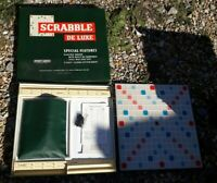 Scrabble Deluxe - Vintage Turntable Board Game - Spears 1970s - Complete