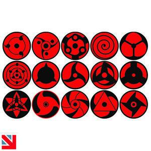 SHARINGAN Stickers Decal Vinyl A5 KIDS BOYS GIRLS ANIME Naruto Sasuke Ninja