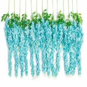 Wholesale 24pcs 3.4ft Artificial Wisteria Vine Silk Hanging Flower for Weeding