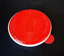 universal Reflektor Katzenauge Rückstrahler rot Anhänger rund 60mm selbstklebend