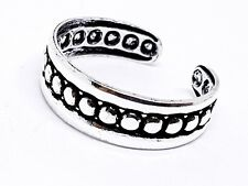 Sterling Silver Adjustable Style Shield Boxed Viking Norse Toe Ring Solid 925