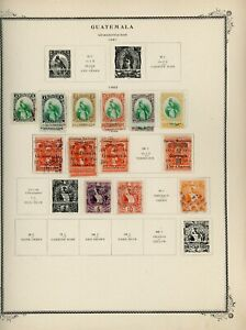 GUATEMALA Scott Specialty Album Page Lot #159 - SEE SCAN - $$$