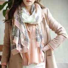 Women Stylish Print Wrap Long Scarf Ladies Shawl Large Cotton Silk Scarves Stole
