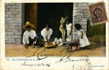 MEXICO, LOS CONSENTIDOS DE LA CASA, Vintage Postcard, USED, from 1906 !