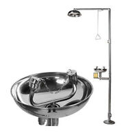 Stainless Steel Combinaton Emergency Eyewash Shower Station and Shower System