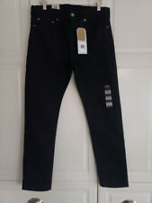 Mens Levi's 510 Skinny Black Jeans - Size 32 x 30 - NEW with tags