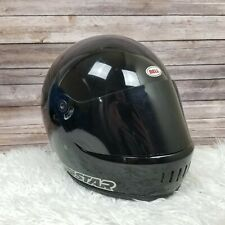 VTG 1970 80s Bell Star LTD Motorcycle Car Racing Full Face Helmet Black 7 1/2