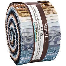 Robert Kaufman Roundabout Artisan Batiks Roll up 40 Strips