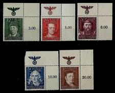 Germany Third Reich Stamps General Government Mi 120-124 MNH with SWASTIKA
