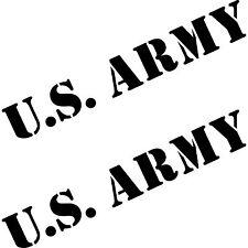 2 Aufkleber 50cm schwarz US ARMY Auto Tattoo Heck Folie Schriftzug Autoaufkleber