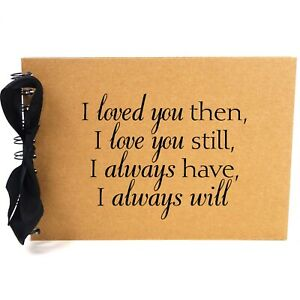 Ribbon, I Love You Still, Photo Album, Scrapbook, Blank White Pages, A5