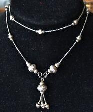 Vintage sterling silver necklace, handmade, Israel Handmade silver V237