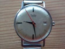 Vintage Mens ZENTRA Manual Wind Wristwatch working ETA Cal 2408 movement.