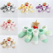 5 Pairs Fashion Winter Warm Baby Socks Thick Newborn Cotton Unisex Bed Sock New