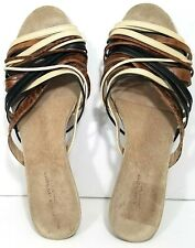 Dries Van Noten Slides Sandals Heel Multicolor Strap EUR 41 / US 11 B