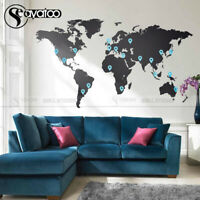 Large World Map Living Room Bedroom Vinyl Wall Sticker Decal Home Decor Travel