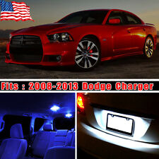 11PCS Pure Blue Led Light Interior Package Kit Deal For 2008-2013 Dodge Charger