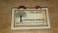 CHERRY ALMOND--Cottage Farms Goat's Milk Soap Handmade 6 oz. Bar