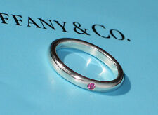 Tiffany & Co Elsa Peretti Band Ring with Red Ruby in Sterling Silver
