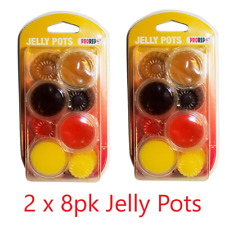 2 x ProRep 8 Pack Jelly Pots Mixed Flavours Reptile Crested Gecko Feeding