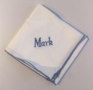 "Personalised name ""Mark"" hanky handkerchief"