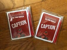 Deadpool VS The World Caption Board Game Promo x2 Gen Con USAopoly