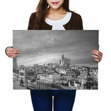 A2 - Madrid Skyline Buildings Spain Poster 59.4X42cm280gsm(bw) #43164
