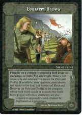 MIDDLE EARTH THE AGAINST THE SHADOW RARE CARD UNHAPPY BLOWS grade 9/10