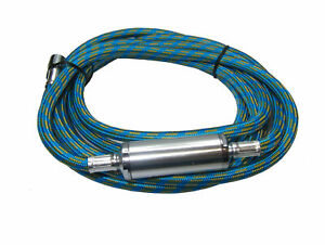 AIRBRUSH WATER TRAP HOSE 2.8M LONG BRAIDED 1/8 BSP BY RDG TOOLS