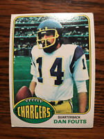 1976 Topps #128 Dan Fouts Football Card San Diego Chargers HOF Raw